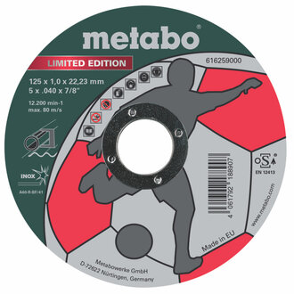 Диск за метал 125х1.0х22.2mm A60T Inox Metabo 616259000